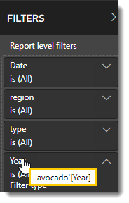 Power BI and SSRS Reports: Report Filters  in PBRS.