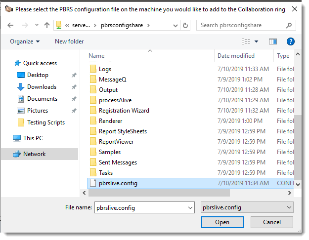 Power BI and SSRS Reports: Adding a Collaborator machine in PBRS.