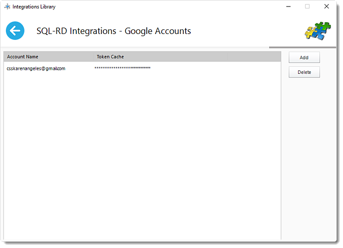 SSRS Reports: Google Account in SQL-RD