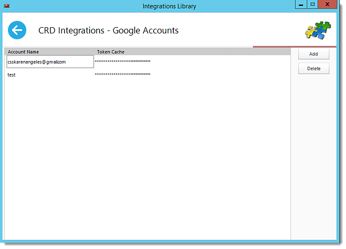 How do I add Google Accounts in CRD?