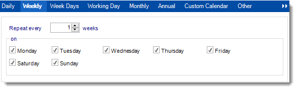 Crystal Reports: Schedule Wizard in Schedules in CRD.