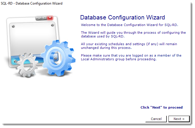 SSRS Reports: SQL-RD Database Configuration Wizard