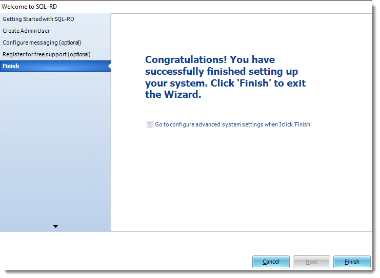 SSRS Reports: Welcome to SQL-RD Wizard.