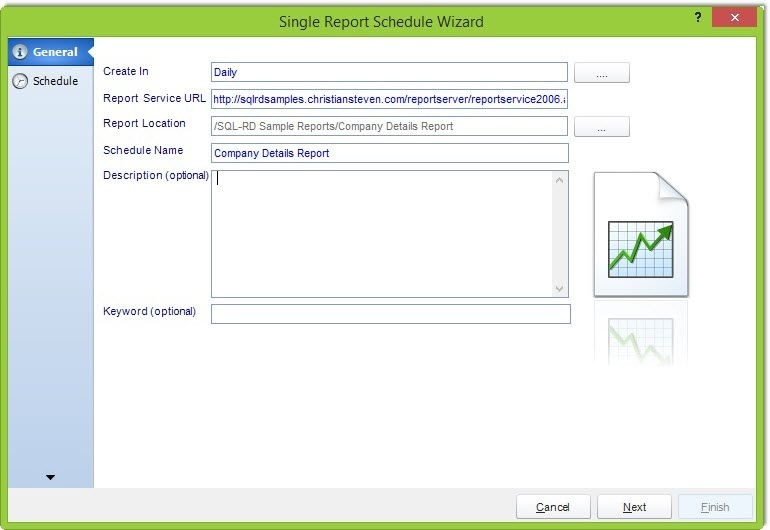 SQL Server Reports | Singe Report Schedule | SQL-RD