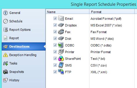 SQL-RD Destinations & Output Formats
