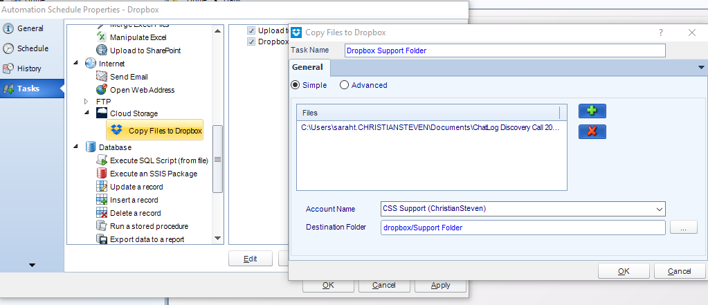 How To Upload An SSRS Report To Dropbox