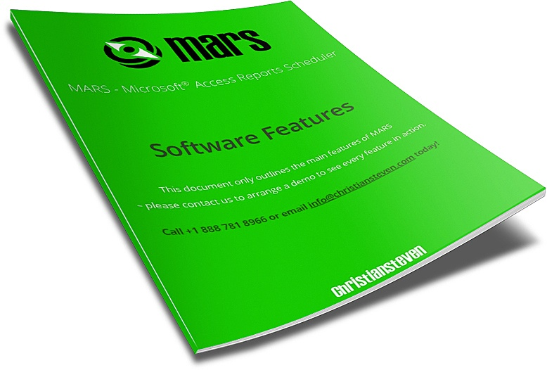 MARS - Software Features Document