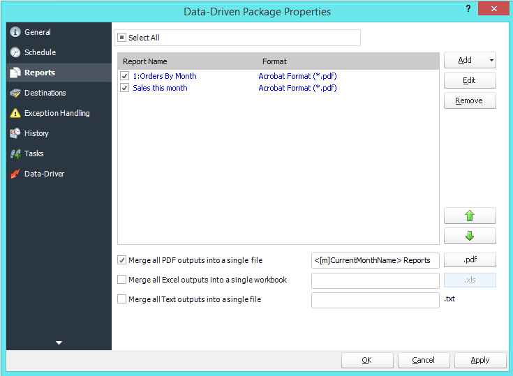 PBRS Power BI Data Driven Package