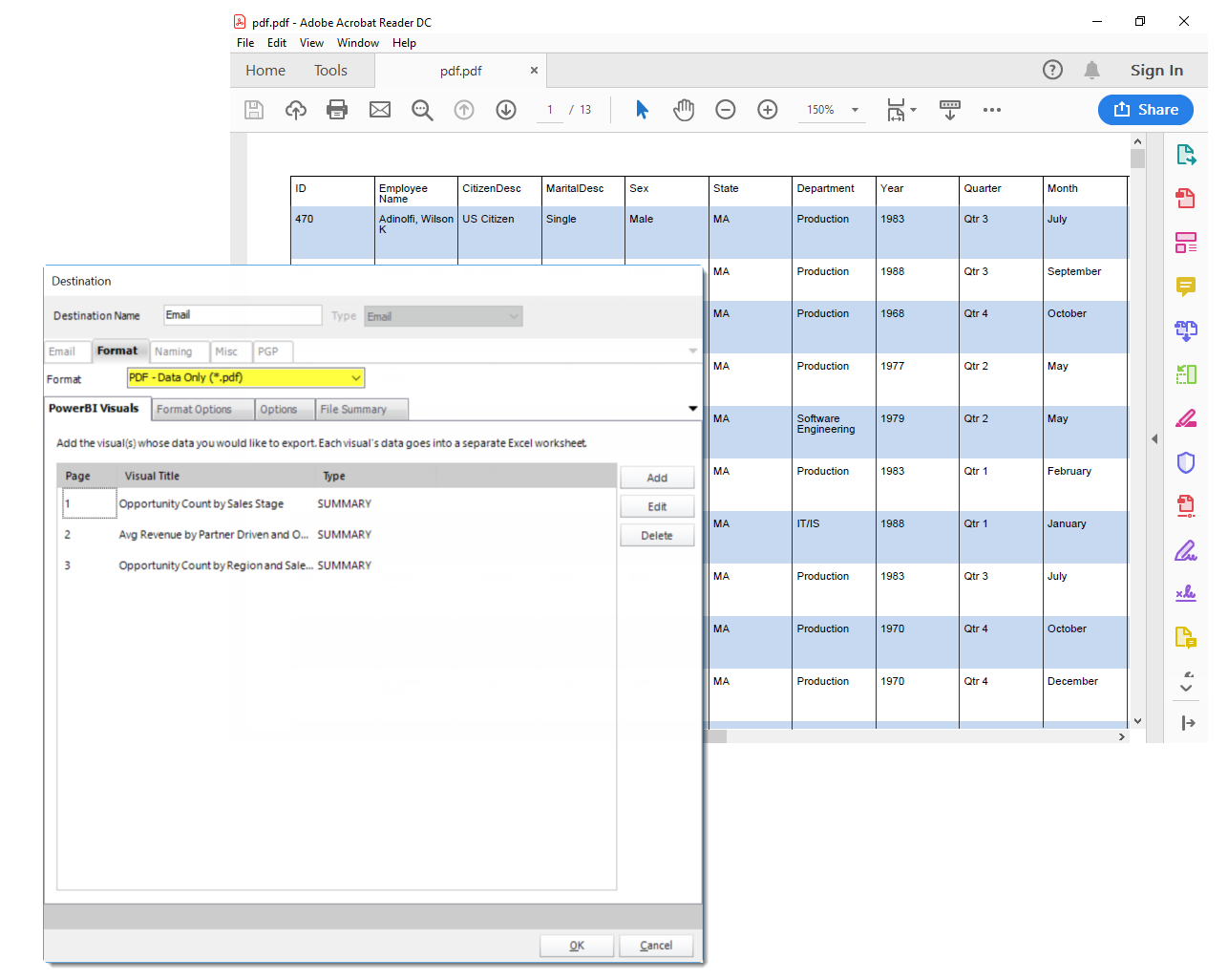 How To Export A Power BI Report To PDF With All Data
