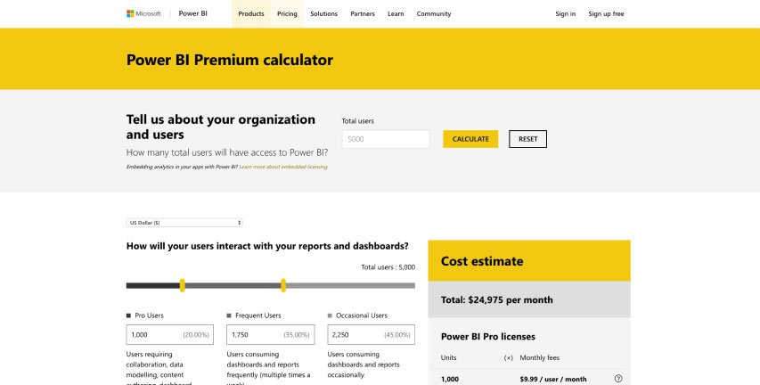 Power-BI-calculator