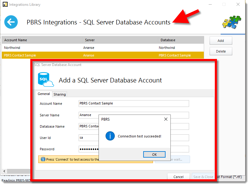 SQL Server Account
