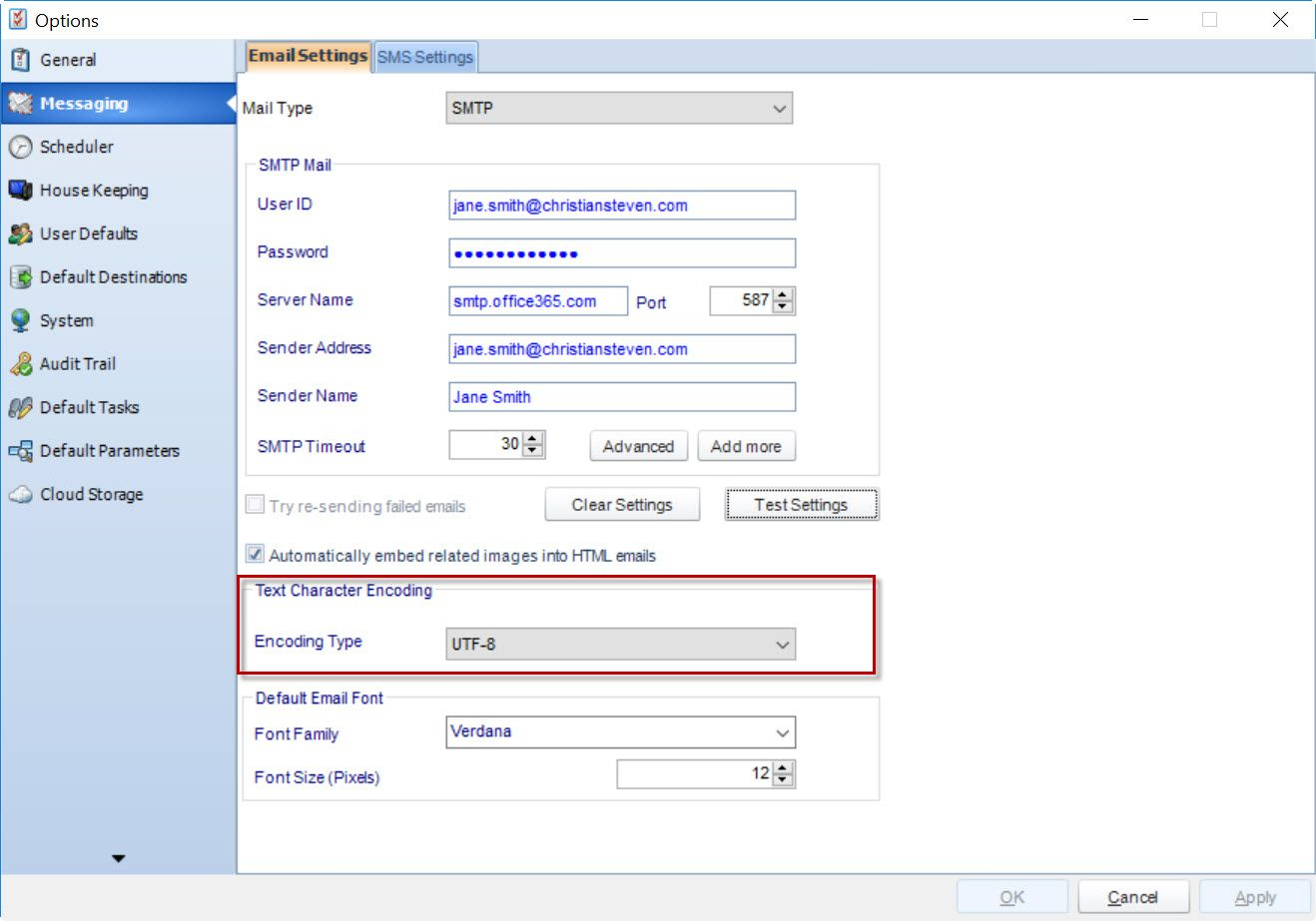 How to send an SSRS Report via email in a non-Latin language.