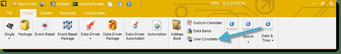User Constant PBRS Home Screen