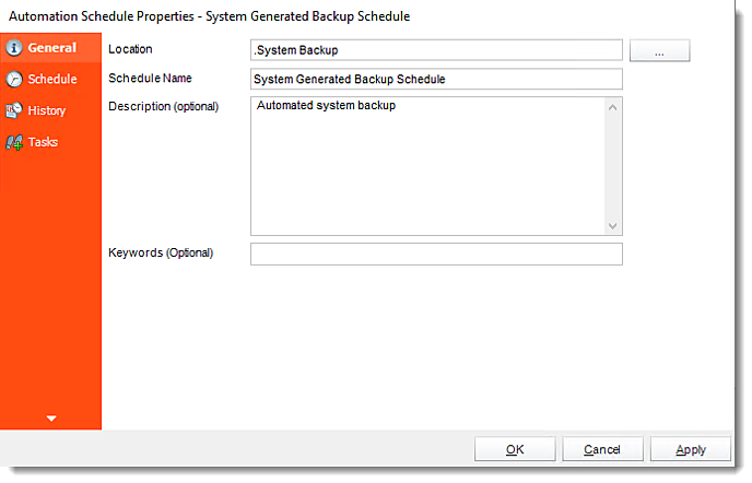 Crystal Reports: System Generated Backup Schedule in CRD.