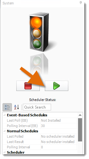 Crystal Reports: Setting up Backup Scheduler Server.