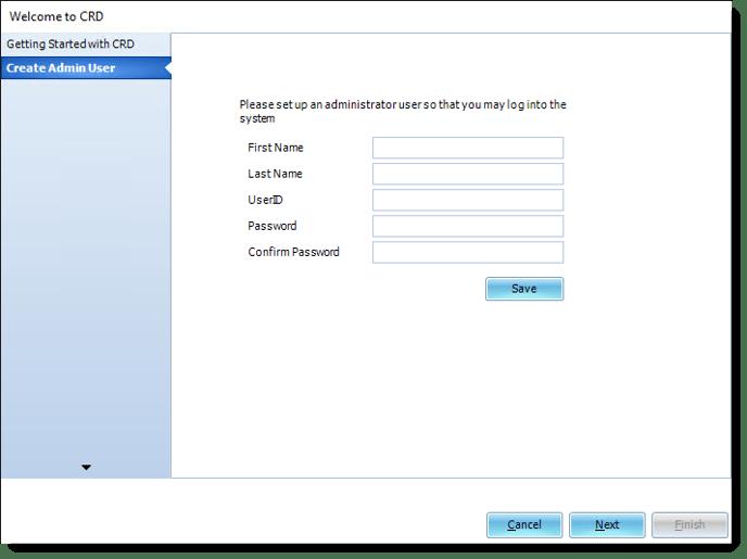 Create Admin User in CRD