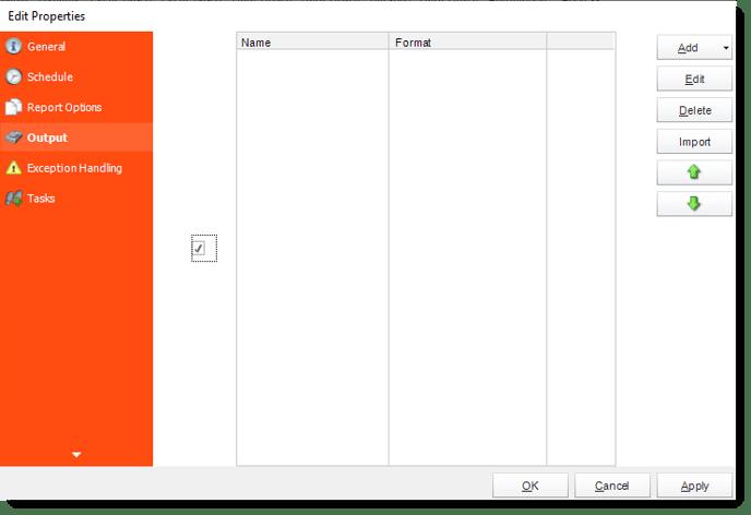 Output checkbox - Edit Properties CRD