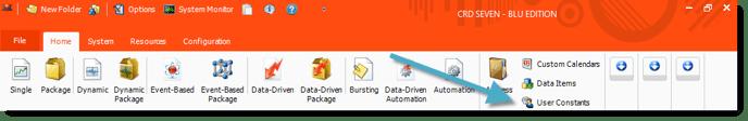 User Constants - CRD Home Screen