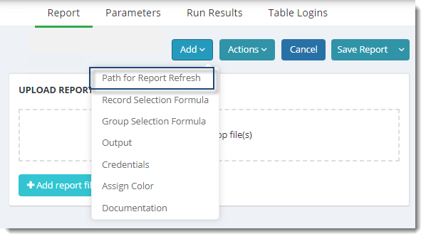 KPIs and Dashboards: Refreshing Crystal Reports in IntelliFront BI.