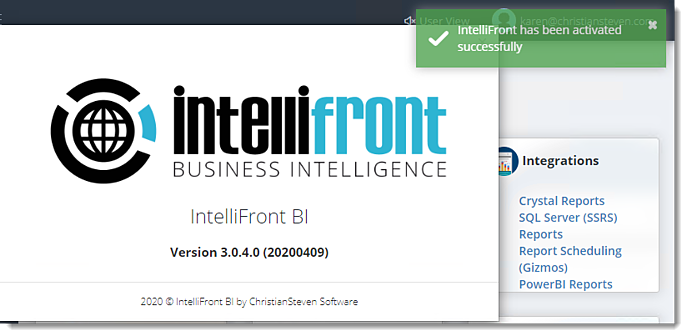 KPIs and Dashboards: Activating IntelliFront BI.