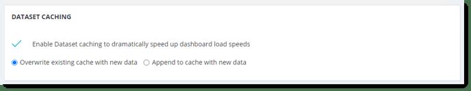 Dataset Caching in Import Dataset
