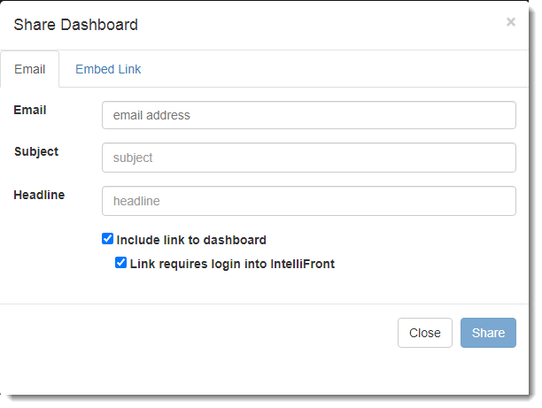 KPIs and Dashboard: Creating a Dashboards in IntelliFront BI.