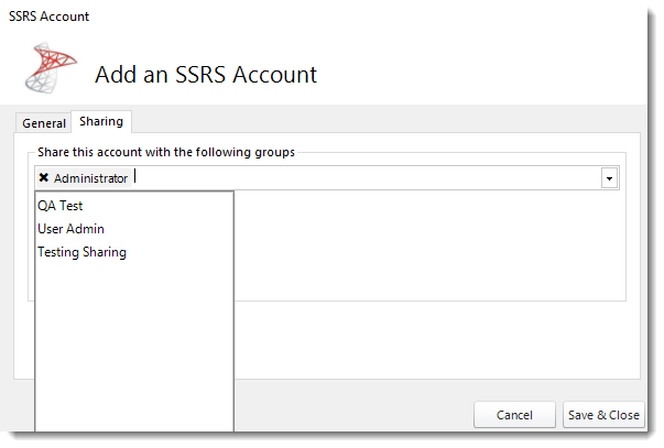Sharing Power BI and SSRS Accounts in PBRS.