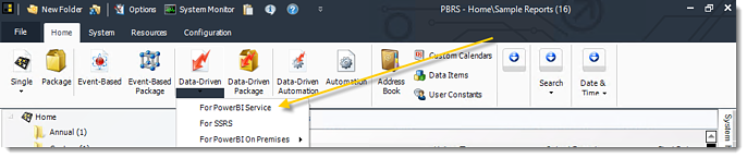 Power BI and SSRS. Data Driven Schedule in PBRS