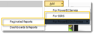 Power BI and SSRS. Reports Wizard of Package Schedule Report for SSRS in PBRS.