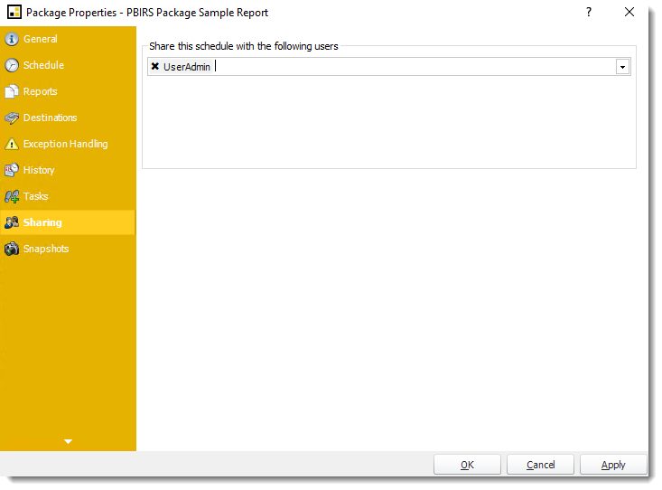 Power BI and SSRS. Package Schedule Report Properties for PBIRS in PBRS.