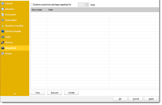 Power BI and SSRS: Single Report Schedule Properties of Paginated Reports in PBRS.