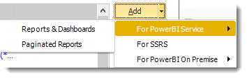 Power BI and SSRS. Reports Wizard of Package Schedule Report for Power BI in PBRS.