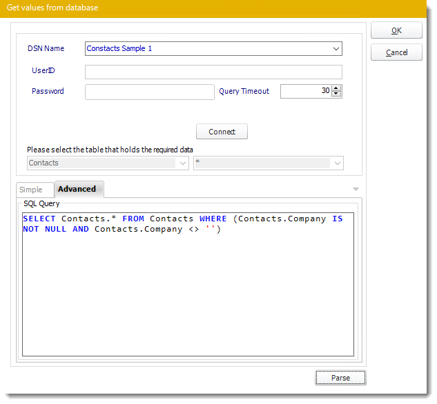 Power BI and SSRS. Get values from database interface in PBRS.