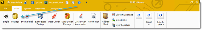 Power BI and SSRS: PBRS Home Screen