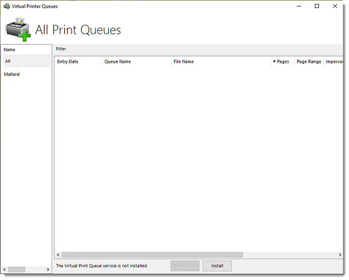 Power BI and SSRS Reports: Virtual Printer Queues in PBRS.