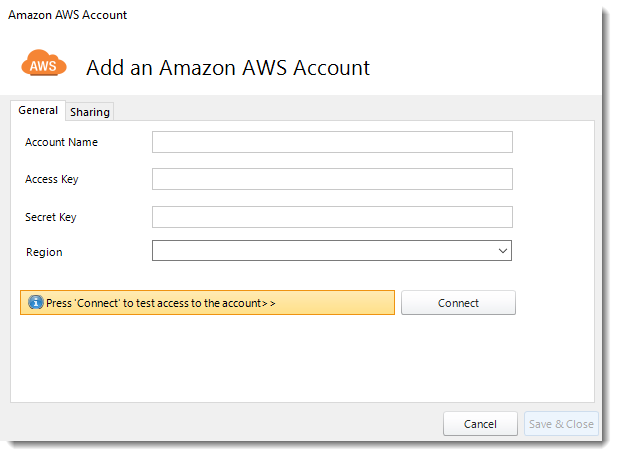 Power BI and SSRS: Adding Amazon AWS account in PBRS.