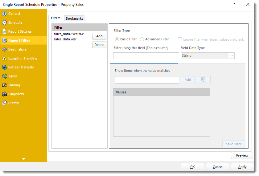 Power BI and SSRS. General Wizard of Single Report Schedule Properties in PBRS
