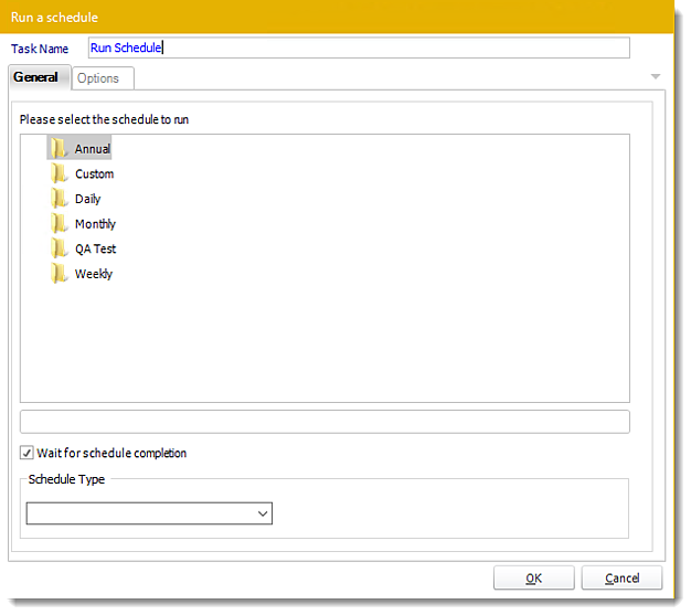 Power BI and SSRS. Execute Schedule Custom Task Wizard in PBRS