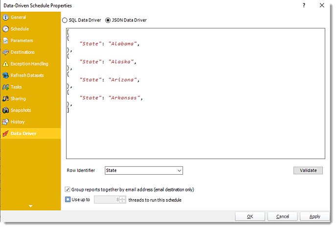 Power BI and SSRS. Data Driven Package Properties in PBRS.