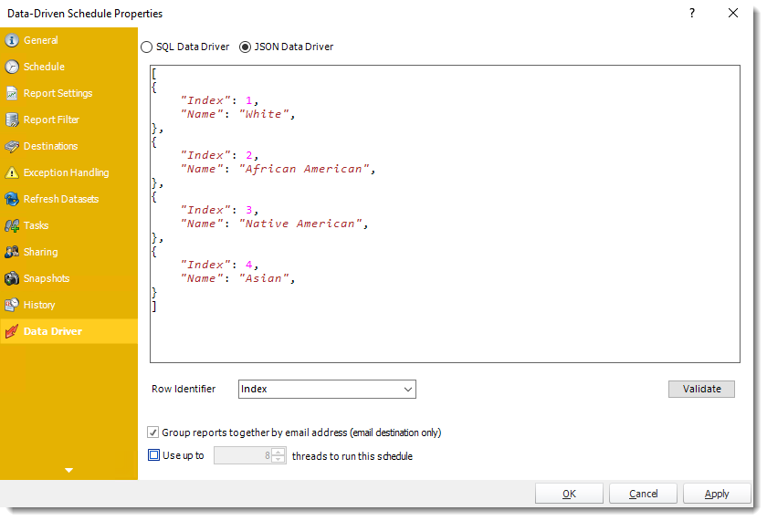 Power BI and SSRS. Data Driven Schedule Properties in PBRS