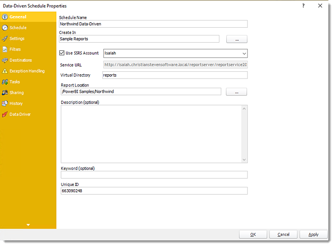 Power BI and SSRS Reports: Data-Driven Schedule Properties in PBRS.