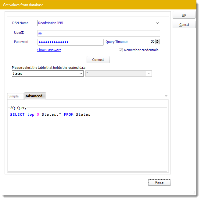 Power BI and SSRS Reports: Get Values from Database interface in PBRS.