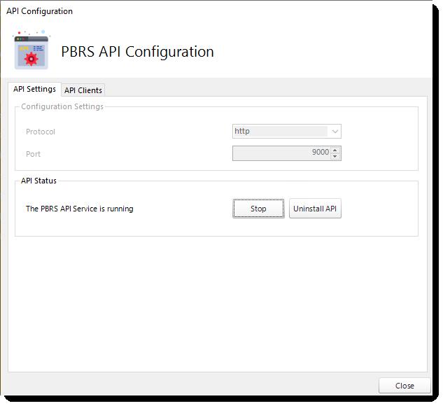 PBRS API Configuration - API Settings 3