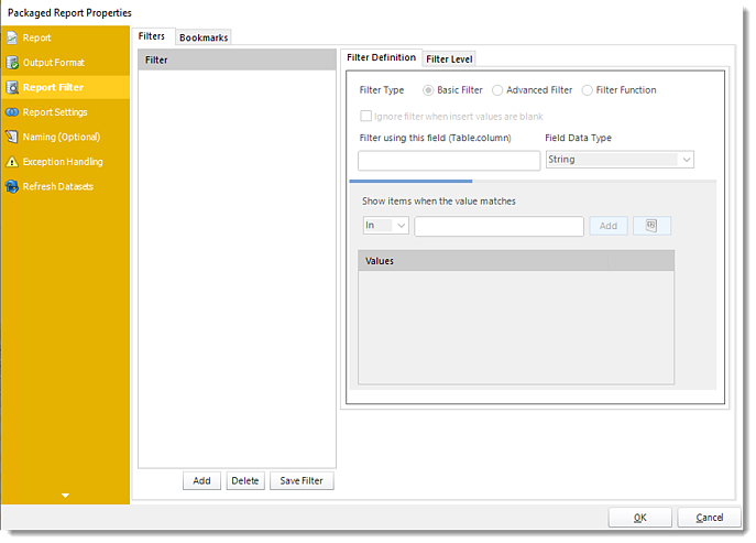 Power BI and SSRS. Package Report Properties of Package Schedule Report for Power BI in PBRS.