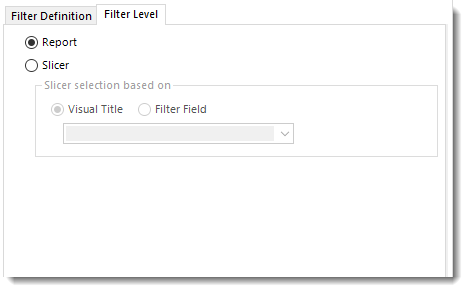 Power BI Single filter level