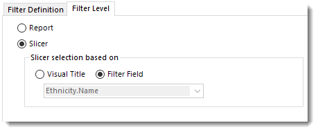 Power BI Slicer Filter field