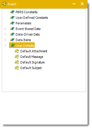 Power BI and SSRS. User Defaults Insert Menu in PBRS.