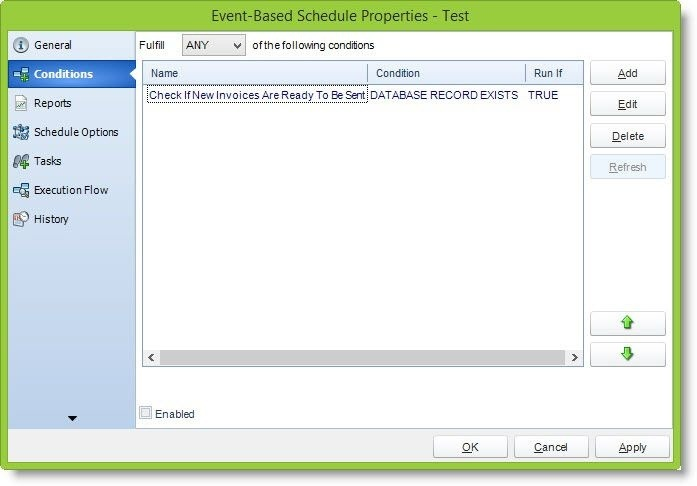 Event-Based Schedule | SQL-RD