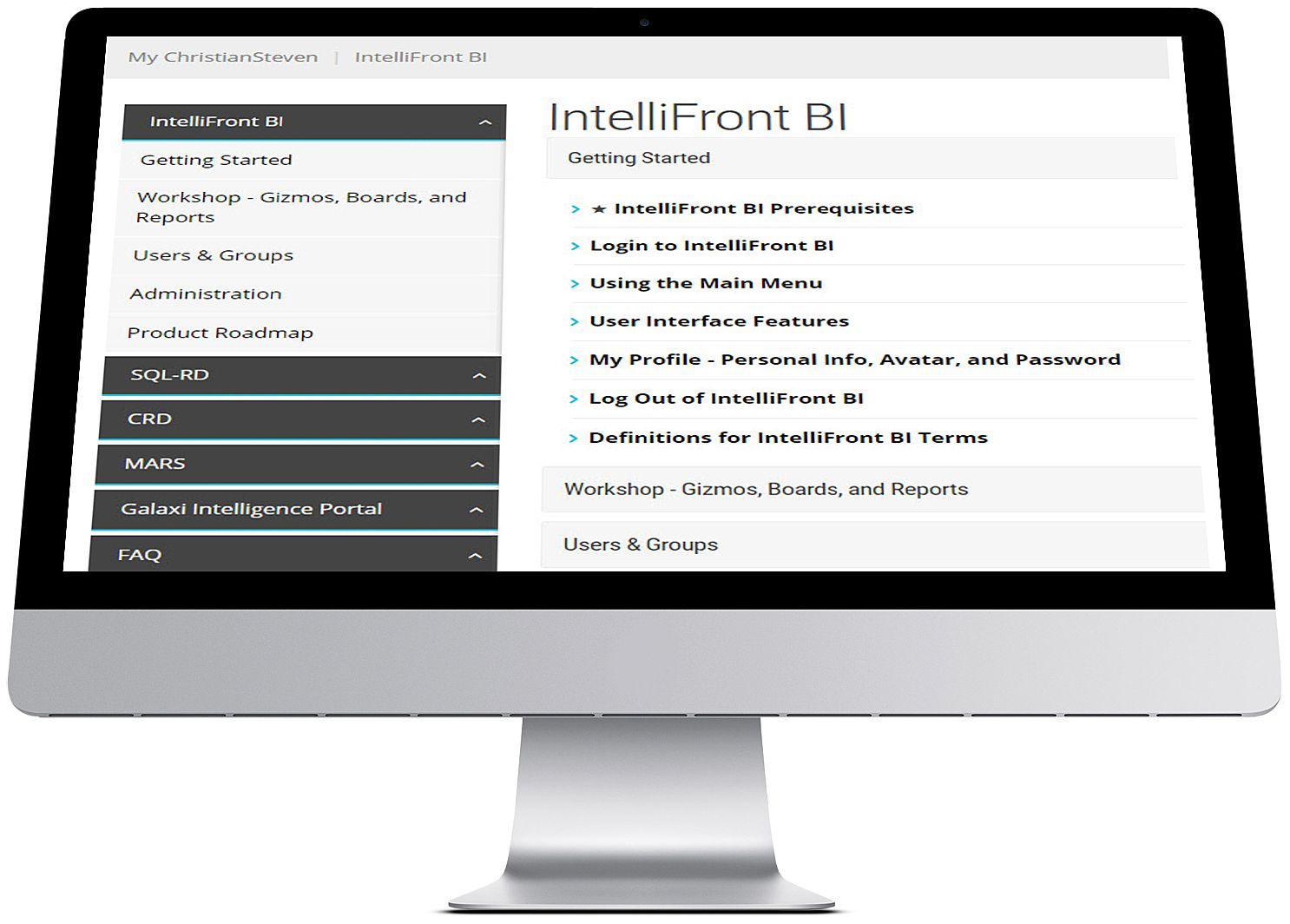 Click To Browse IntelliFront BI User Manual