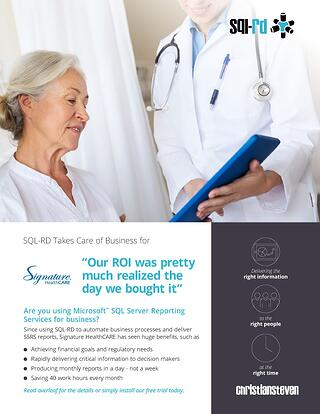 Case Study: Signature Healthcare | SQL-RD